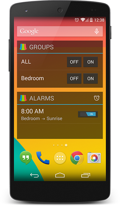 Lock and homescreen widgets with LampShade Pro